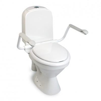 Asiento inodoro con tapa y reposabrazos abatibles supporter for Elevador taza wc